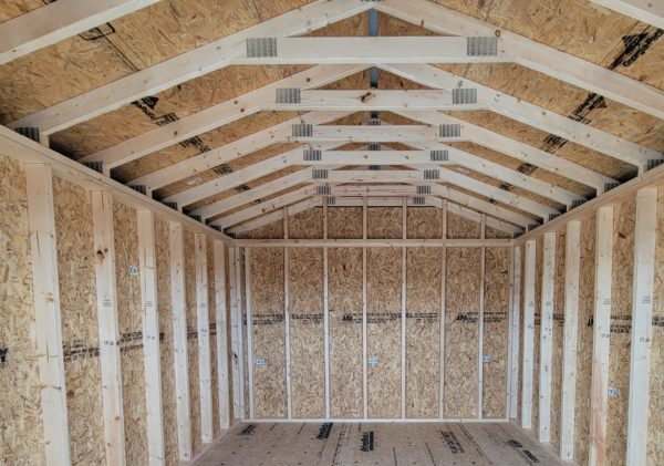 solid roof system in missouri wood sheds